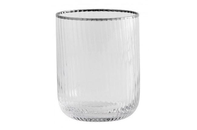Image of   Rilly drikkeglas med sølv kant - æske med 6 stk. fra Nordal