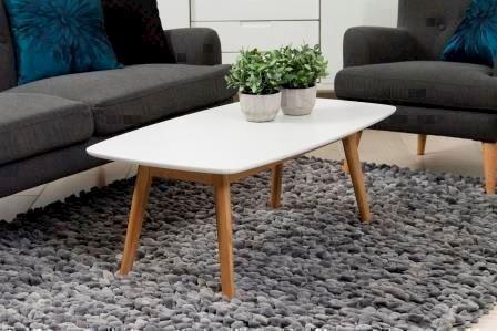 Nagant sofabord hvid og eg