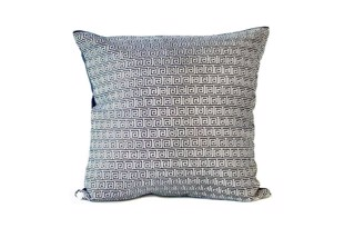 Navy silver khari pude 50x50 cm fra THG Home & Interior