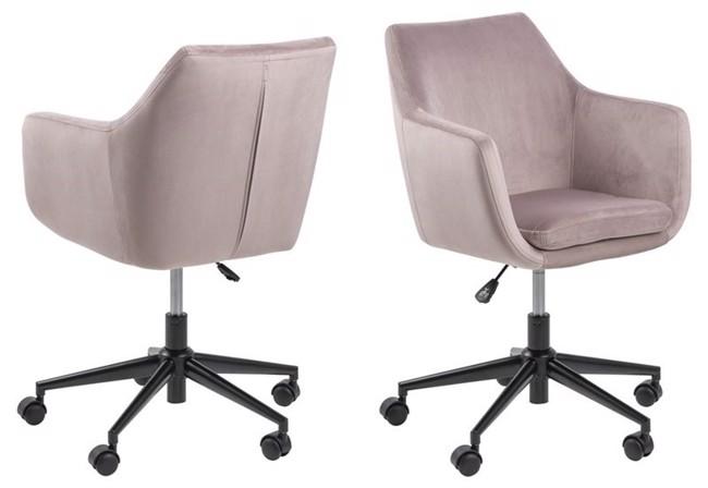 Image of   Nora kontorstol støvet rosa fra Actona Company