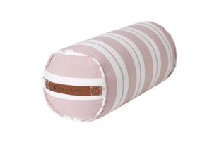 Nordic striped cotton bolster i farven Magnolia fra Cozy Living