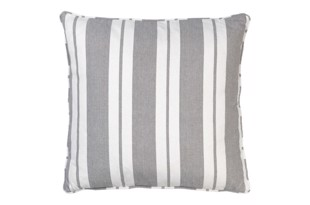 Nordic striped cotton pude 50x50 cm Mud fra Cozy Living