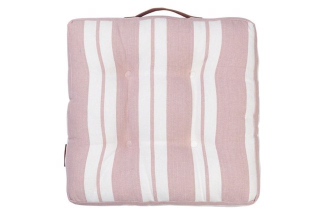 Nordic striped cotton seat Magnolia 42x42 cm fra Cozy Living