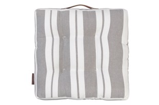 Nordic striped cotton seat Mud 42x42 cm fra Cozy Living