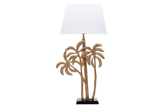 Image of   Palm tree lampefod i antik guld fra THG Home & Interior