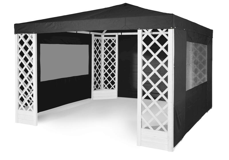 sort tag til pavillon de luxe 3 5x3 5 m fra hillerstorp. Black Bedroom Furniture Sets. Home Design Ideas