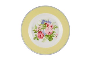 Greengate tallerken Ø 15 cm - Plate rose pale yellow
