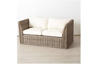 Resel sofa natur rattan fra Boltze Home Collection
