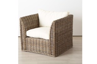 Resel lænestol i natur rattan fra Boltze Home Collection