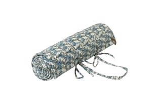 Retro Flower - Quilted Yoga måtte i light petrol fra Cozy Living
