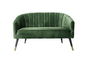 Royal sofa i grøn velour fra Present Time