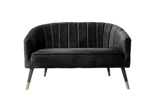 Image of   Royal sofa i sort velour fra Present Time