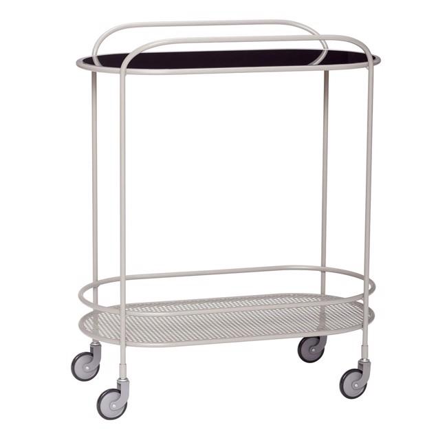 Image of   Rullebord, glas/metal, grå fra Hübsch