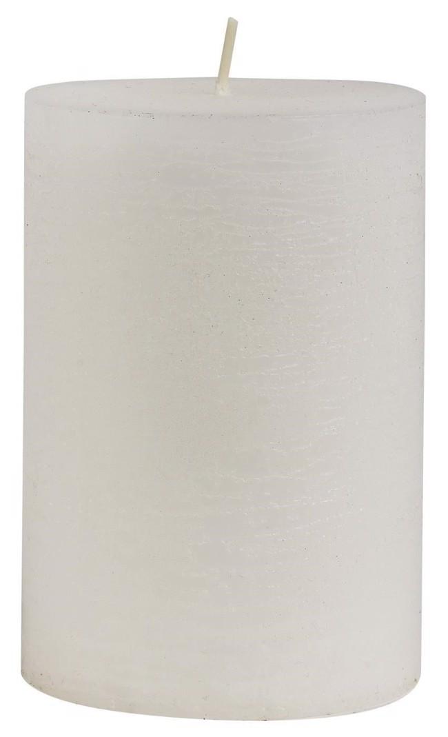 Image of   Rustikt bloklys, hvidt H10 cm fra Ib Laursen
