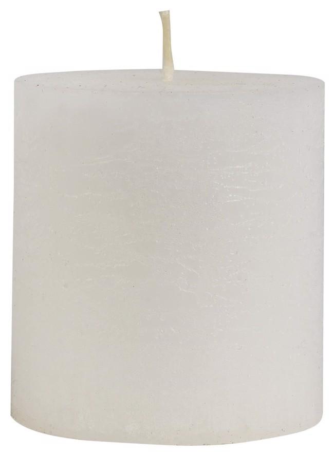 Image of   Rustikt bloklys, hvidt H7,5 cm fra Ib Laursen