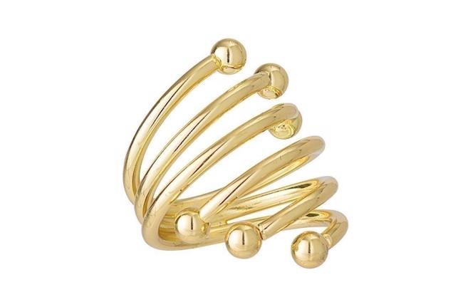 Image of   Serviet ringe i guld fra Bloomingville