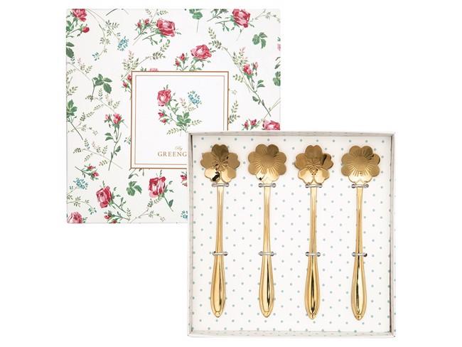 Image of   Greengate Constance Spoon - sæt med 4 teskeer i guld