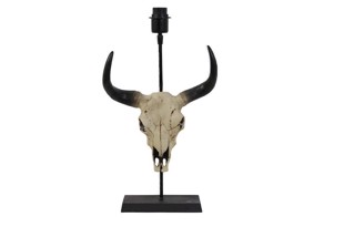 Skull bordlampe med kranium i sort fra Light & Living