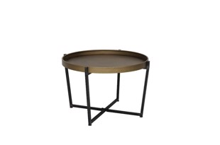Tortola sofabord bronze Ø80 cm Light & Living
