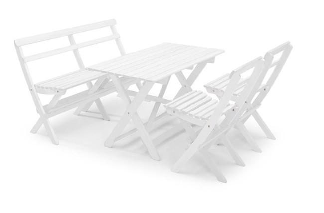 Image of   Torpet havemøbelsæt hvidt fra Hillerstorp