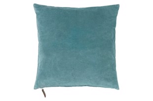 Velvet soft pude 50x50 cm Light petrol fra Cozy Living