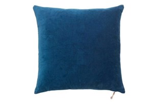 Velvet soft pude i farven major blue 50x50 cm fra Cozy Living