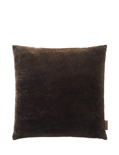 Image of   Velvet Soft pude 50x50 cm - DARK CHESTNUT fra Cozy Living