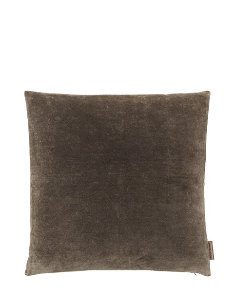 Image of   Velvet Soft pude 50x50 cm - TAUPE fra Cozy Living