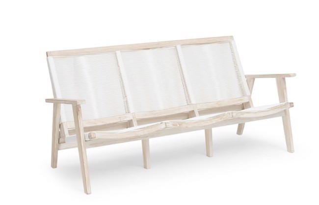 Image of   Wellington loungesofa i teak whitewash fra Hillerstorp