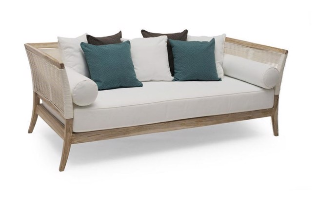 Image of   Wellington daybed i teak whitewash fra Hillerstorp