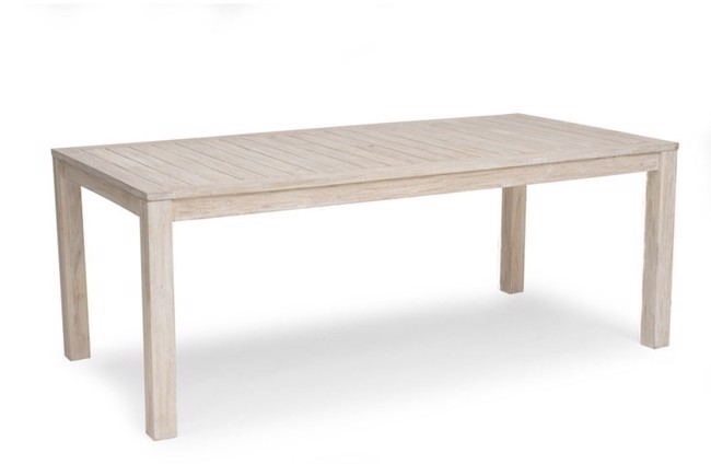 Image of   Wellington havebord i teak whitewash 100x200 cm fra Hillerstorp