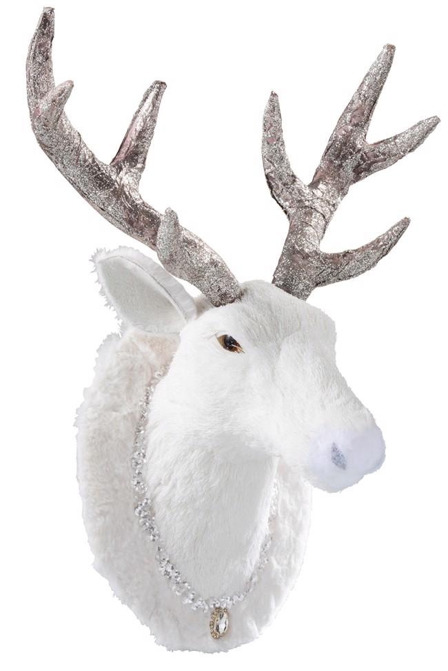 Image of   White Rudolf til dekoration H43 cm fra J-Line