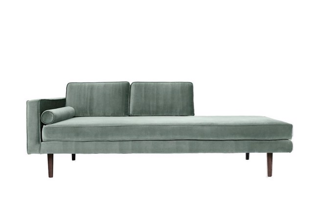 Wind chaiselong sofa chinois green fra Broste Copenhagen
