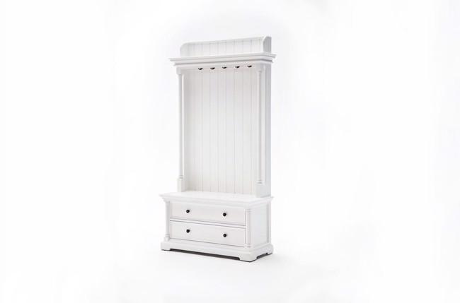 Garderobemøbel i hvid med skuffer fra Novasolo