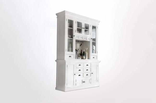 Image of   Hutch hvidt vitrineskab fra Novasolo