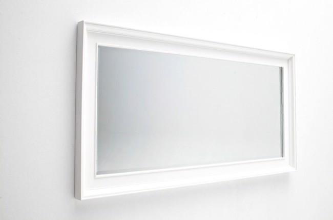 Image of   Kæmpe spejl i hvid mahogni fra Novasolo