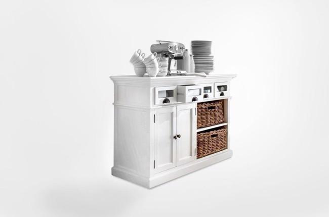 Image of   Køkkenbuffet i hvid fra Novasolo