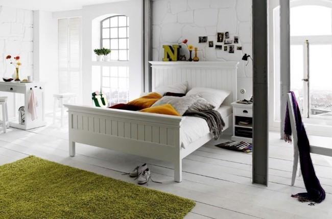 Image of   Queen size hvid seng fra Novasolo