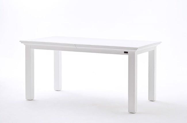 Spisebord i hvid med udtræk fra Novasolo